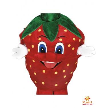 Costume mascotte fraise Planète Mascottes