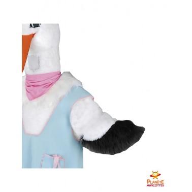 Détails costume mascotte cigogne