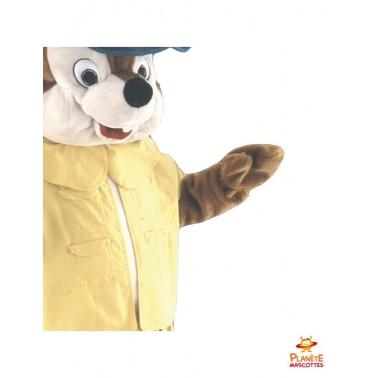 Détails mascotte renard jaune