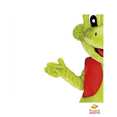 Détails mascotte de grenouille