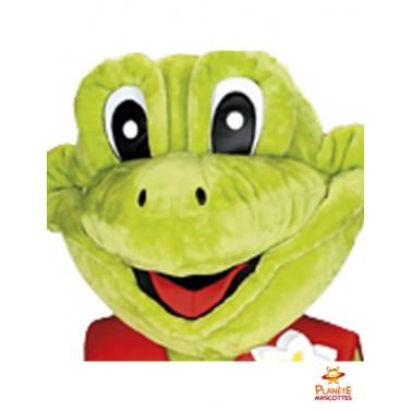 Tête costume mascotte de grenouille
