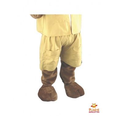 Pantalon mascotte renard jaune