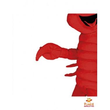 Détails costume mascotte langoustine