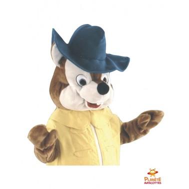 Costume mascotte renard jaune
