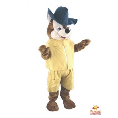 Mascotte renard jaune Planète Mascottes