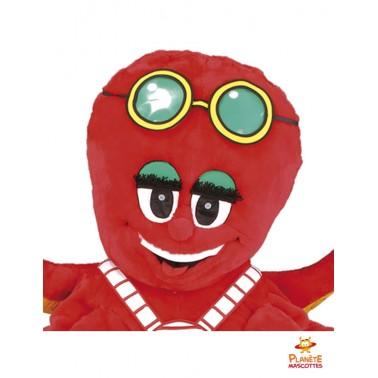 Tête costume mascotte pieuvre