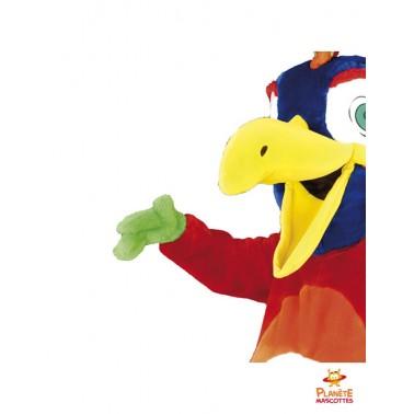 Détails costume mascotte perroquet