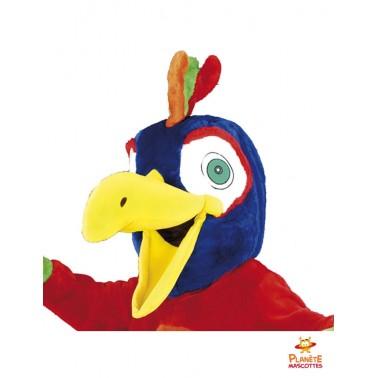 Tête mascotte perroquet costume