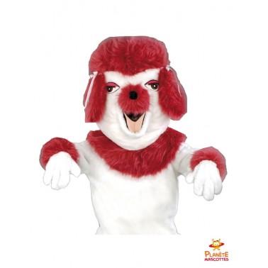 Costume mascotte de chien caniche