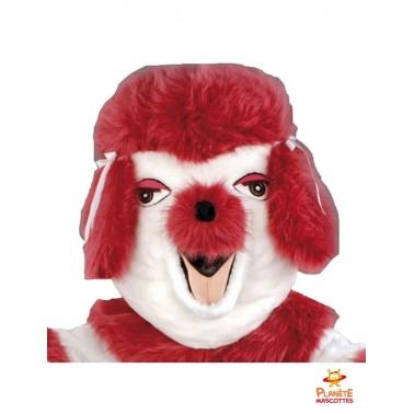 Tête mascotte chien caniche