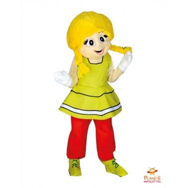 Costume Mascotte de Gauloise