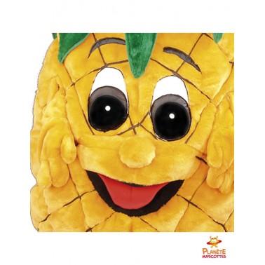 Visage mascotte ananas