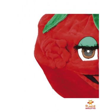 Détails mascotte de fraise