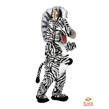 Costume mascotte de Zèbre