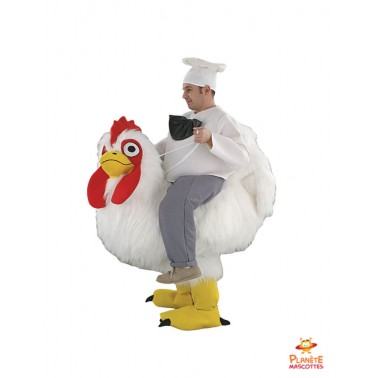 Disfraz de mascota con espalda de pollo Planète Mascottes
