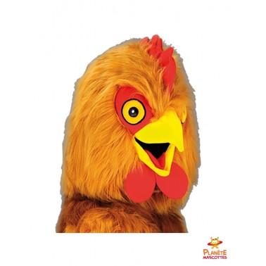 Tête costume mascotte poule