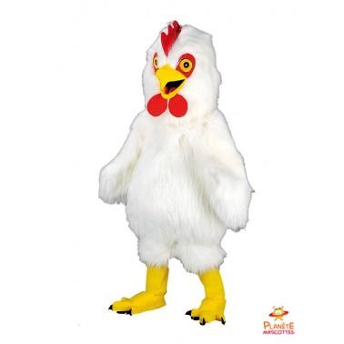 Costume mascotte de Coq blanc