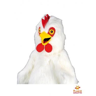 Mascotte de coq blanc