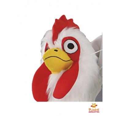 Tête mascotte à dos de poulet