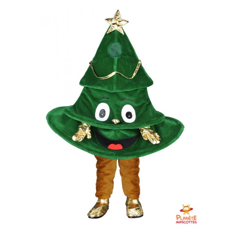 Mascotte sapin de Noël Planète Mascottes