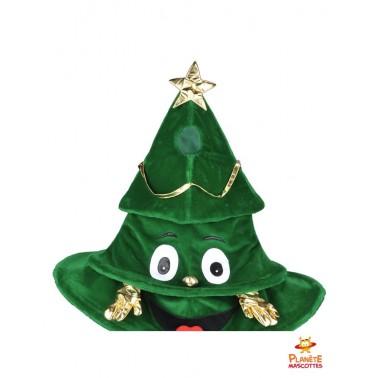 Costume mascotte sapin de Noël