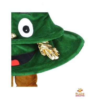 Détails mascotte sapin de Noël