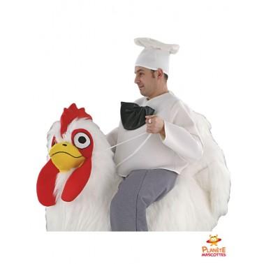 Costume mascotte à dos de poulet
