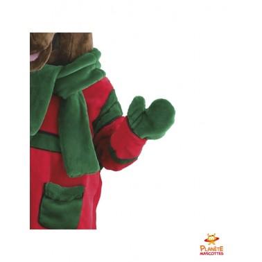 Détails costume renne de Noël