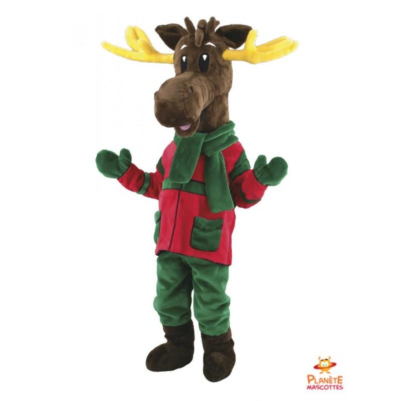 Mascotte renne de Noël Planète Mascottes
