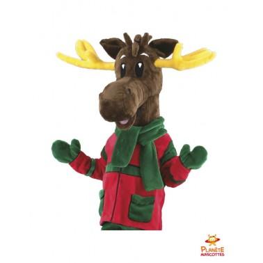 Costume mascotte renne de Noël