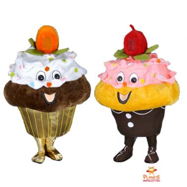 Mascota de cupcake Planète Mascottes