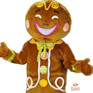 Tête mascotte pain d'épice Planète Mascottes