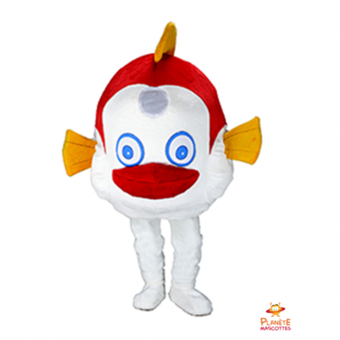 Face mascotte poisson costaud