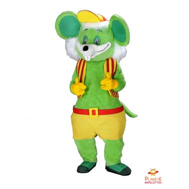 Mascotte souris verte Planète Mascottes
