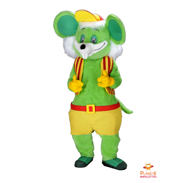 Mascota ratón verde Planète Mascottes