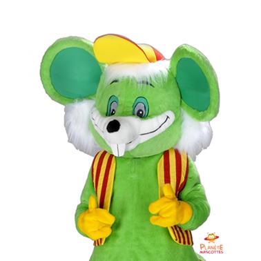 Corps mascotte souris verte Planète Mascottes