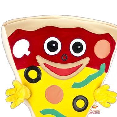Détails mascotte pizza Planète Mascottes