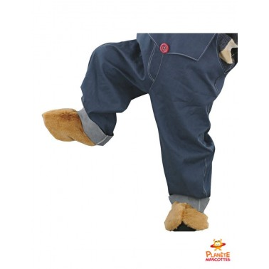 Pantalon mascotte ours salopette