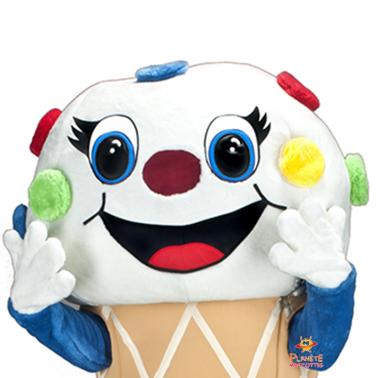 Tête mascotte glace Planète Mascottes