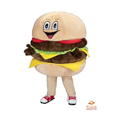 Costume mascotte de Hamburger