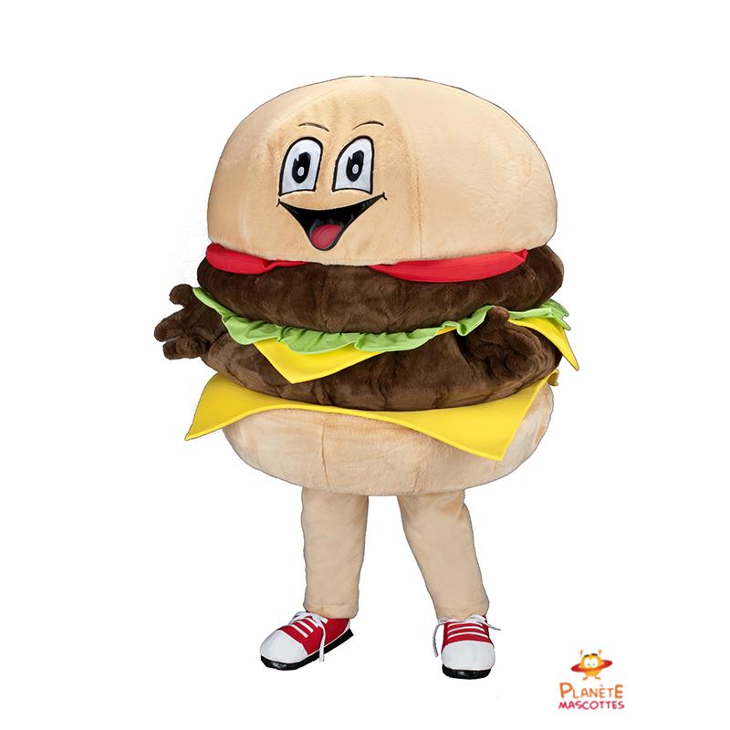 Mascotte hamburger Planète Mascottes