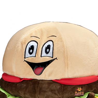 Détails mascotte hamburger