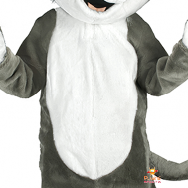 Détails mascotte chat gris Planète Mascottes