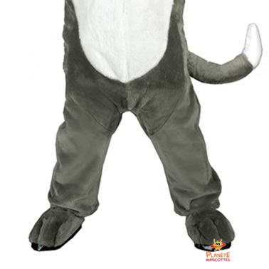 Corps mascotte chat gris Planète Mascottes