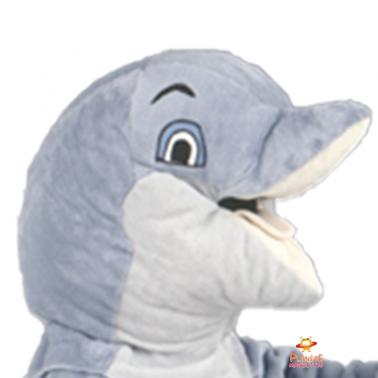 Tête mascotte dauphin Planète Mascottes