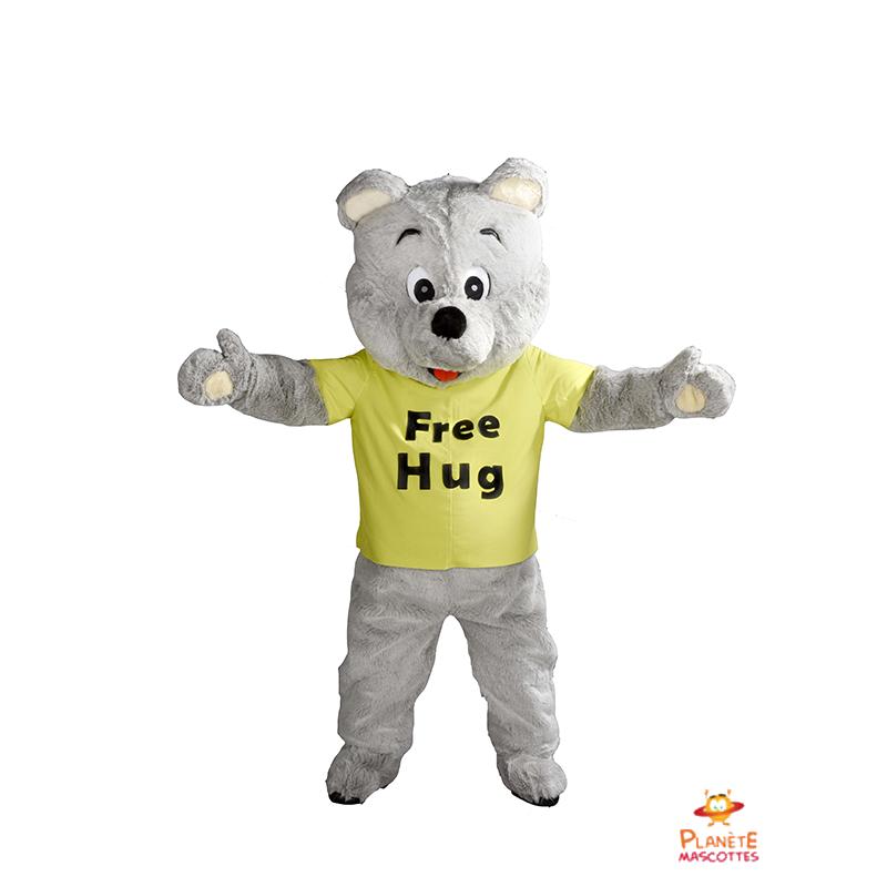 Mascotte Free Hug Planète Mascottes