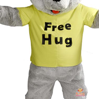 Corps mascotte free hug Planète Mascottes