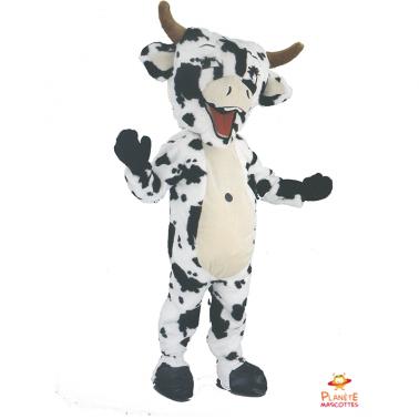 Mascota Vaca Blanca y Negra Planète Mascottes