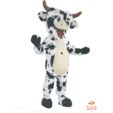 Mascotte de vache noire et...