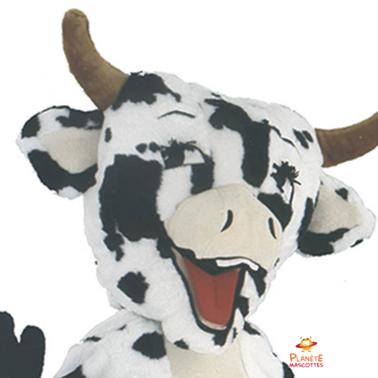 Tête mascotte vache Planète Mascottes
